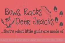 Bows Racks and Deer Tracks.. Little Girls Vinyl Wall Decals Funny Bedroom Quote
