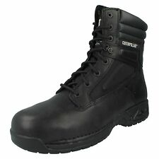 CATERPILLAR MENS LACE UP LEATHER STEEL TOE SAFETY COMBAT WORK BOOTS OUTHAUL HI