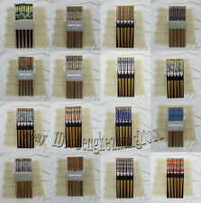 New 5pairs Chinese Vintage Beautiful Various Pattern Classic Wooden Chopsticks