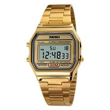 Skmei Metal Retro Unisex Digital Display Classic LCD Watch Vintage Style V6N1