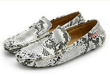 New Mens snakeskin moccasin-gommino driving loafers casual slip on boat shoes