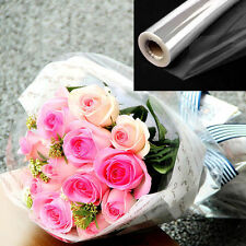 20/100m x 80cm Clear DOT Cellophane Florist Film Roll Hamper Gift wrapping paper