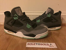 Nike Air Jordan 4 IV Green Glow Size 12 USED in Great Condition