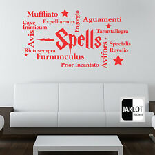 HARRY POTTER SPELLS COLLAGE WORDS - Vinyl  Wall Art Decal Sticker