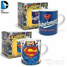 New DC Superman Man Of Steel Or Chest Logo Mini Mugs Espresso Coffee Official