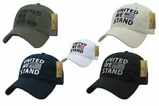 USA American United We Stand Flag Patch Baseball Caps Hats Washed Cotton Polo