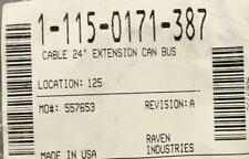 115-0171-387, CABLE 24' EXTENSION CAN BUS, RAVEN