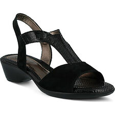 Spring Step BERIT Womens Black Leather Dressy Casual Comfort Sandals
