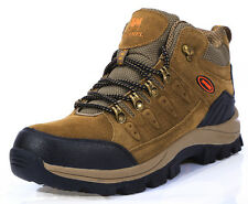 Mens Outdoor Hiking Lace up Running Trainers Ankle Boots Shoes Suede Sport Free