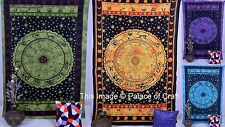 Astrology Zodiac Indian Tapestry Wall Hanging Bed Cover Wall Decor Horoscope Art