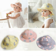Baby Infant Kids Girls Polka Dot Cotton Hat Cap Summer Sun Beach Hats Bohemian