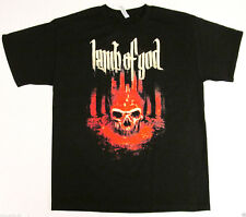 LAMB OF GOD Bloody Skull T-shirt LoG Heavy Metal Band Tee Adult M-2XL Black New