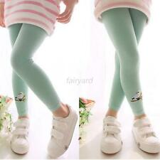Toddlers Kids Girls Cotton Pants Birds Pattern Baby Stretch Leggings Trousers