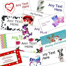 Personalised Large Transparent Colour Stickers/Address Labels 24 per sheet