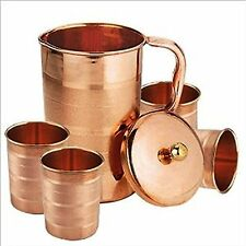 Pure Copper Jug for Health Benefits Indian Drinkware, Capacity 1.6 Litre