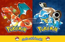 RGC Huge Poster - Pokemon Yellow Blue Red Nintendo GB GBC GBA DS 3DS - EXT285