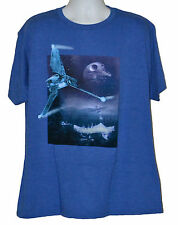 Star Wars VI Return of the Jedi T-shirt Endor Imperial Shuttle Graphic Tee Blue