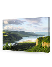 Columbia River Gorge in Portland, Oregon. Giclee Print on Canvas for Wall Decor