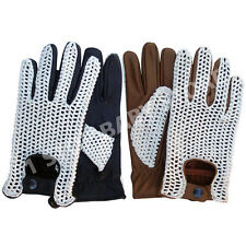 Mens Brand New Comfort Top Quality Real Leather Driving Gloves Black Brown 506