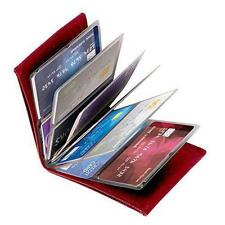 New WONDER WALLET- AMAZING SLIM RFID WALLETS AS SEEN ON TV red, blk,tan LEATHER
