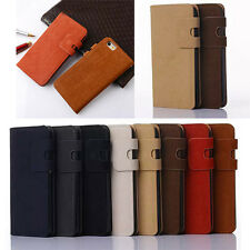 Vintage Soft Leather Flip Stand Wallet Case Cover Skin For Samsung & iPhone
