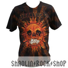 Metallica Shirt Pushead Sun All Over Print  Licensed Merchandise
