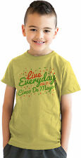 Youth Live Everyday Like Cinco De Mayo Funny Mexican Holiday T shirt (Yellow)