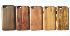 NATURAL HARD WOODEN PROTECTOR CASE WOOD COVER FOR APPLE IPHONE SE 5 5S 6S 6SPLUS