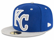 Official MLB Kansas City Royals Full Heather XL Logo New Era 59FIFTY Fitted Hat