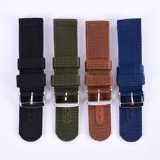 Strap Band Military Army Nylon Canva Wrist Watch Band 18/20/22/24mm 4 Colors