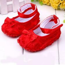 Lovely Baby Shoes Girl Kids Rose Flower Shoes Infant Cotton Crib Toddler Boots