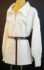 Medieval-LARP-SCA-Re-enactment-Buccaneer-Pirate-HEAVY COTTON SHIRT WITH LACING