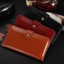 Genuine Leather Case Pouch Flip Wallet Card Holder Cover For iPhone 6 6S Plus
