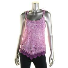 INC 6228 Womens Paisley Tie Strap Lacey Pullover Top Cami BHFO