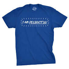Mens Im Delightful Funny Self Bragging I Am Awesome T shirt (Royal Blue)