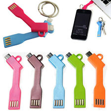 Hot Data Sync Adapter Cable USB Charger Key Ring For iPhone 5 5C 5S 6 6S Plus SE
