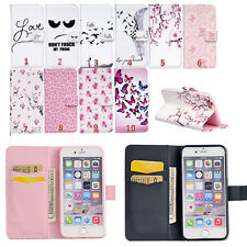 Magnetic Flip stand Card Leather wallet + TPU Case Cover For iphone Samsung LG