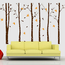 NEW Forest Trees Birds Home Art Vinyl Living Room Huge Wall Decor Decal Stickers