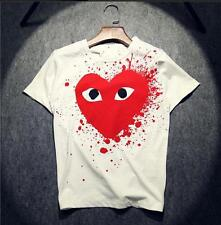 Men's Japan style CDG Tee Play Giant Golden Heart Comme Des Garcons T-shirts 3sz