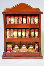 Wooden Spice Rack – Crown – 3 Tiers – 24 Herb and Spice Jars