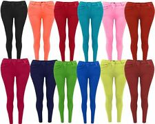 Skinny Women Jeans Stretchy Jeggings Ladies New Fit Coloured Trousers 8 10 12 14
