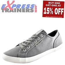 Voi Jeans Chrome Canvas Mens Casual Designer Plimsolls Pumps Trainers Grey
