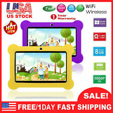 7'' Kid's Tablet PC Quad Core 8GB HD Android 4.4 KitKat Dual Camera WiFi Bundle