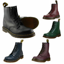 Dr. Martens - 1460 Smooth Comfort, 8-hole Leather Boots with yellow Seam Docs