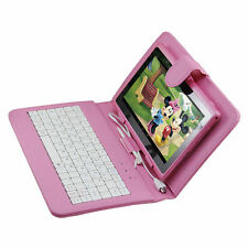 8GB Pink 7 inch Android 4.4 A33 Tablet PC for Kids Children Bundle Keyboard Case