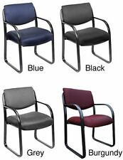 Steel Office Lobby Visitor Arm Chairs Task Side Guest Chair Black Blue Gray Wine