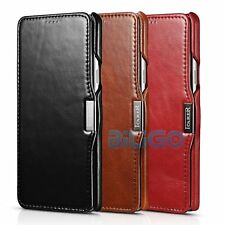 Icarer Vintage Real Leather Flip Ultra Thin Case Cover for Samsung Galaxy Note 5