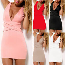 Night Club Queen:Women Bandage Bodycon V Neck Sexy Party Cocktail Mini Dress HOT