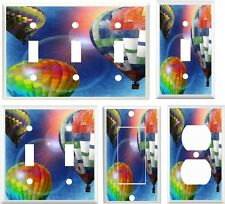 Light Switch Cover Plate ~ Colorful Hot Air Balloons in Flight design