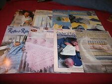 Leisure Arts Crochet And Knitting Leaflets Your Choice - Various Prices